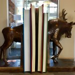 The moose bookends are life size!
