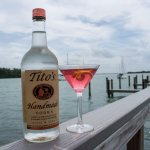 Tito's Pomegranate Martini