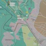 Карта на пешеходном маршруте