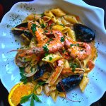 mixed seafood pasta