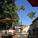 sunny lobby patio