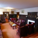 the wood panelled lounge