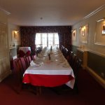 the grand dining room laid out for our group of 21