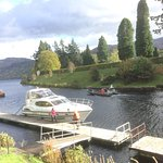 A very busy popular place by the Caledonian canal.