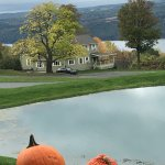 Looking down on the Farmhouse and Seneca Lake