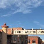 Close up of Stockyards sign