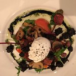 chorizo, black bean & placed egg salad