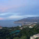 View of Sorrento and Bay of Naples from our room's balcony
