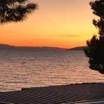 Sunsets looking over to Havr and Brac Islands from our room