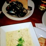 Excellent mussels and seafood chowder