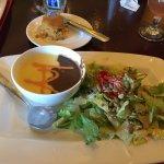 Corn n Bean Soup w. Caesar Salad