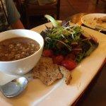 Lamb Barley Broth and Garden Salaad