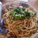 Classic chow mein with eggplant- very good