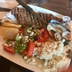 This is the steak with seafood combo ..... SO Good!!