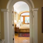Silk Road suite entrance, arched door