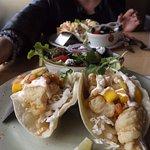 Fish tacos and California side salad