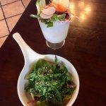 veg sunomono & seaweed salad