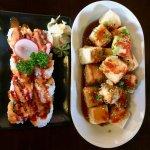spicy tuna roll, agadashi tofu