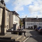 Cartmel Square - Priory Hotel on the left