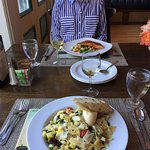 Salmon Special and Veggie Pasta Dish...Very Good.