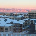 View of mountains from my room - Hyatt Regency Denver TC (10/Oct/17).