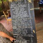 Oversized chalkboard menu