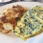 Florentine Benedict and spinach omelette