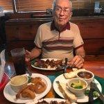 Papa enjoying his meal!