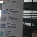 The bust stop at Gare Cornavin in Geneva