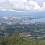 View from the top, you can see lake Geneva, Geneva and other landmarks
