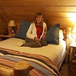 Bedroom loft of log cabin