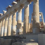 The Parthenon is being fixed