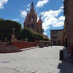 El Jardin is a city block right in front of La Parroquia.