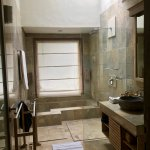 Large soaking tub, open shower, etc. (all stone)