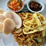 The Indonesian noodles for breakfast (yes, all included)
