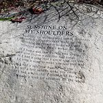 Lyrics engraved into memorial rocks