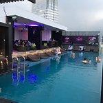 Sky bar with pool