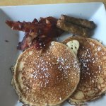Pancakes w/ Bacon and Sausage
