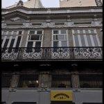 A fachada do restaurante no casarão histórico