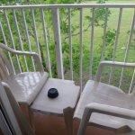 Tiny patio/balcony. Pretty unusable.