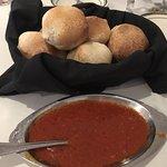 Rolls and marinara sauce