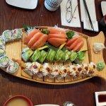 Beautifully presented selection of Sashimi and Maki