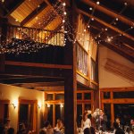 Wedding reception in the great room at the Lodge.