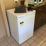 Mini bar fridge - not sure its rated for food only cold drinks