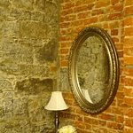 Stone Wall and Brick Wall in Room
