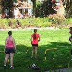 Sports Activity in Garden