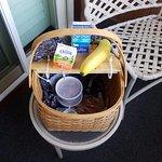 Breakfast Basket on our Balcony