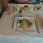 Poisson bar sauce crément de Loire