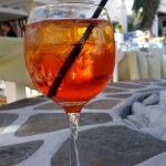 Nice aperol sprizz from the Lounge across the Restaurant