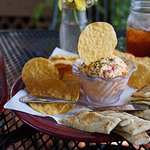 Pimento Cheese appetizer and sweet teas